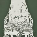 The Ditches Arm Chair,  Cut Paper by Gail Cunningham