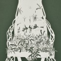 The Ditches Arm Chair,  Cut Paper by Gail Cunningham