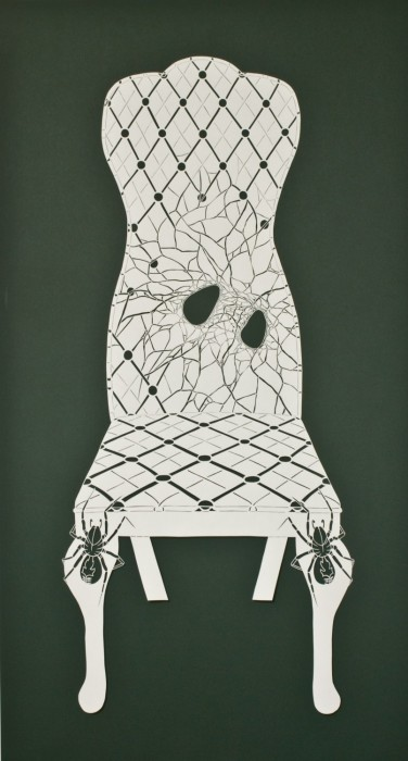 Tunnel Spider Side Chair, Cut Paper by Gail Cunningham