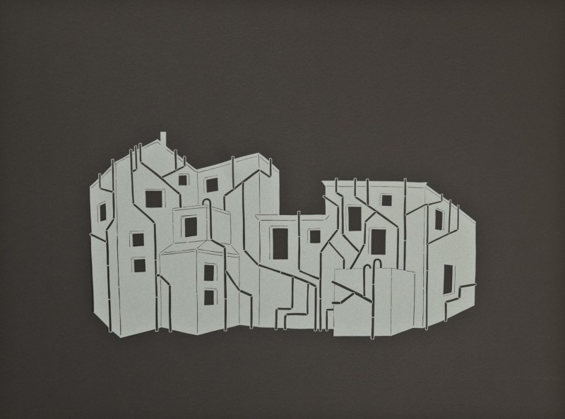Drainage, Cut Paper by Gail Cunningham