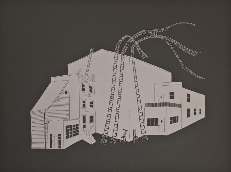 Escape Routes, Cut Paper by Gail Cunningham