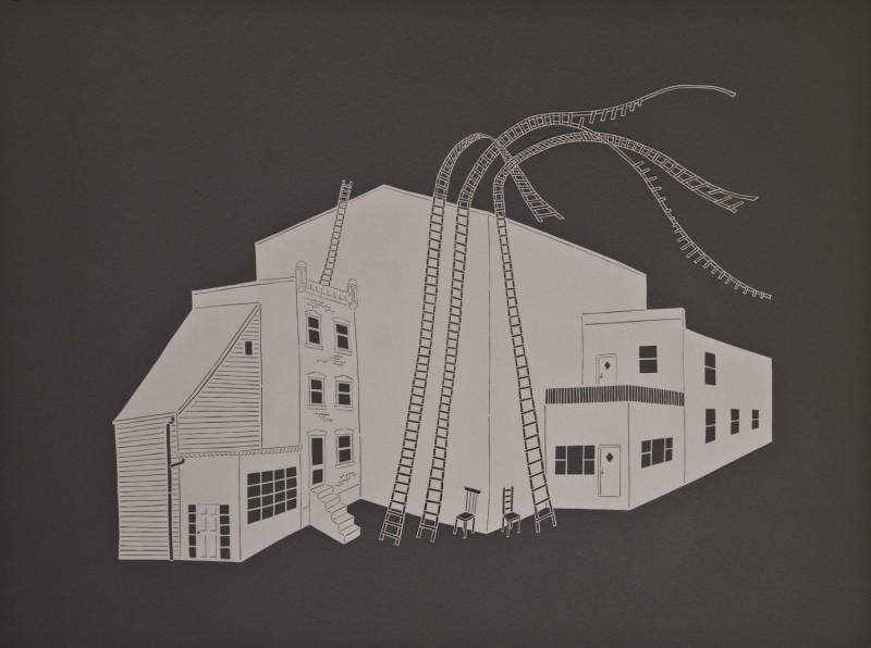 Escape Routes, Cut Paper by Gail Cunningham