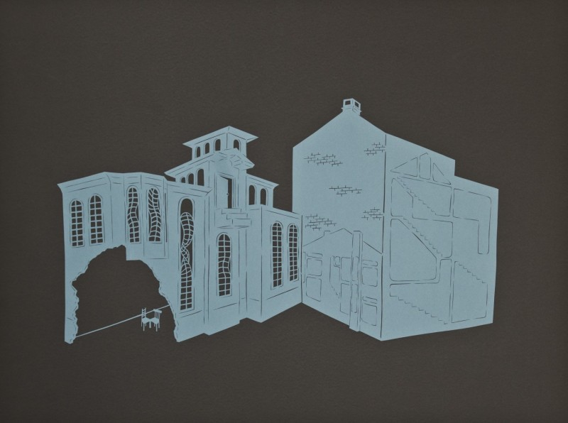 Powelton & Kensington, Cut Paper by Gail Cunningham