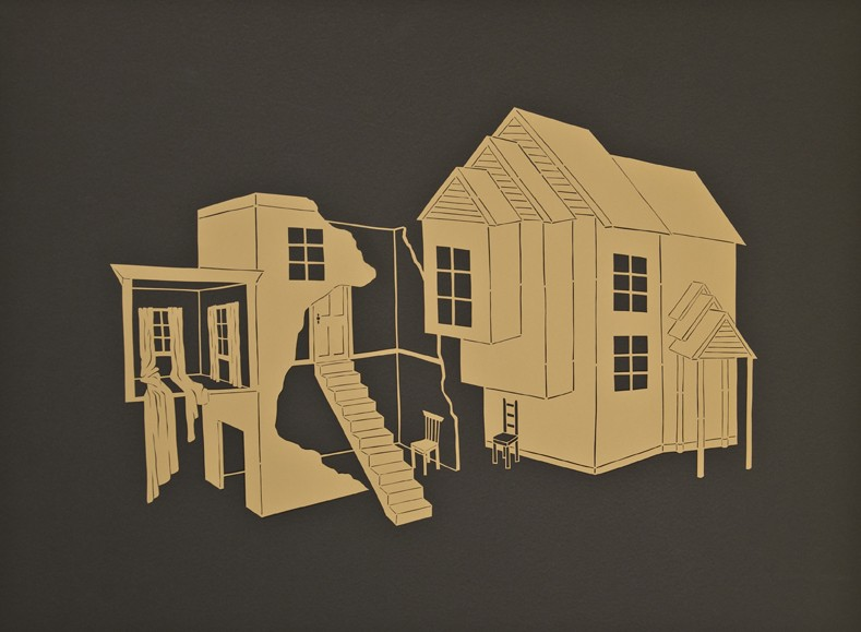 Here and Gone, Cut Paper by Gail Cunningham