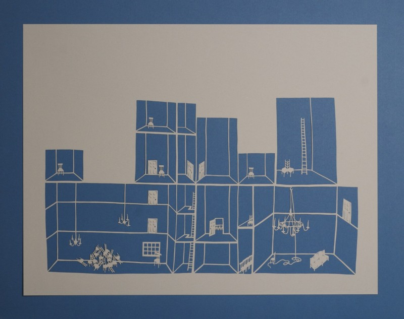 Detention Center II, Cut Paper by Gail Cunningham