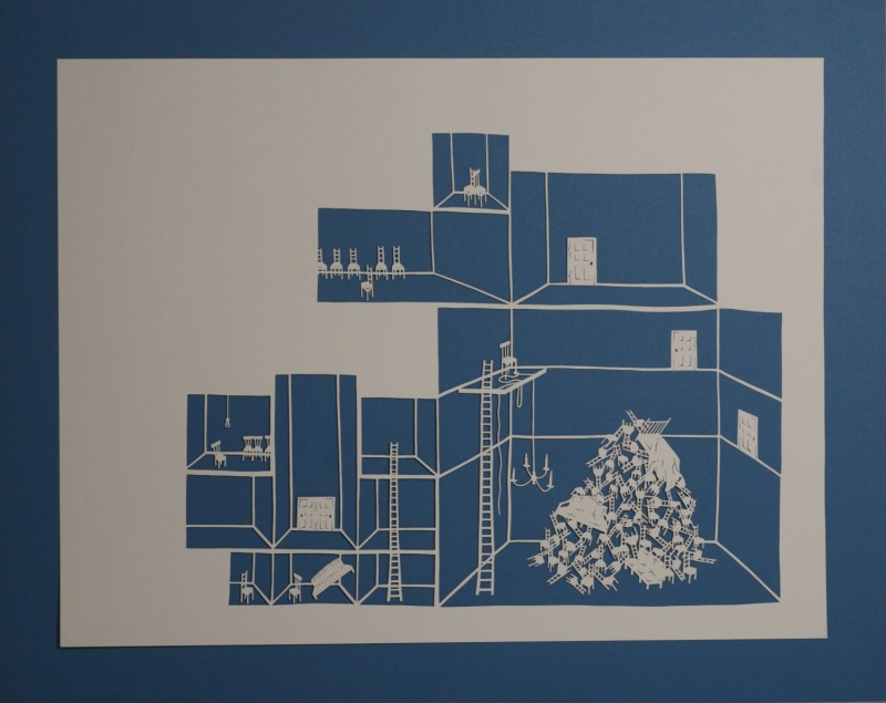 Detention Center III, Cut Paper by Gail Cunningham
