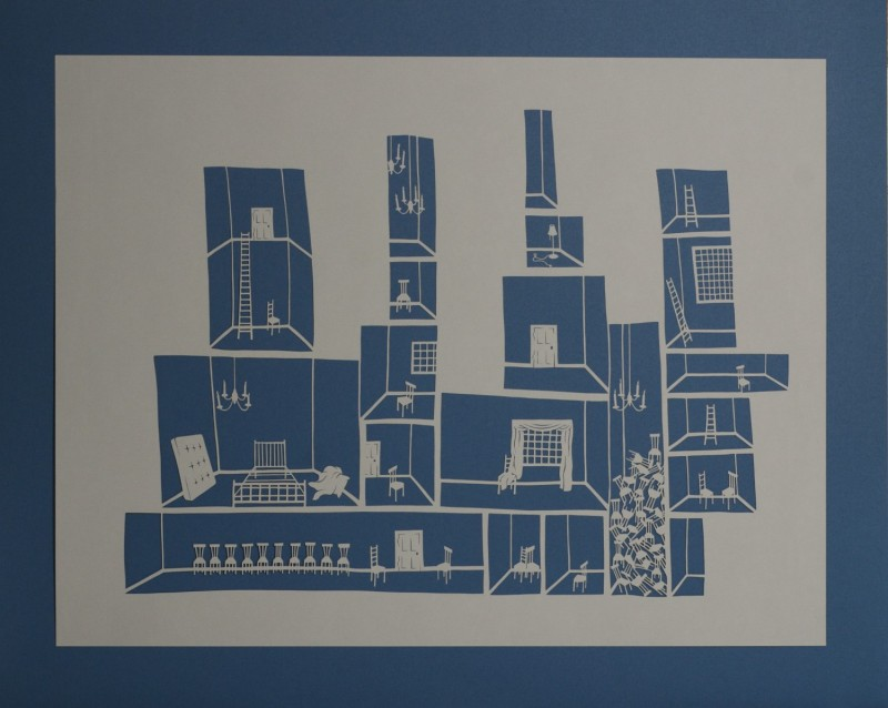 Detention Center IV, Cut Paper by Gail Cunningham