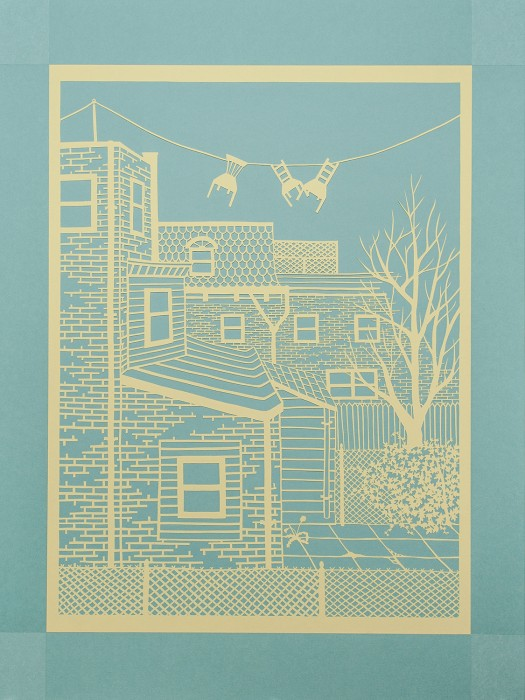 From the Kitchen Sink, Cut Paper work by Gail Cunningham