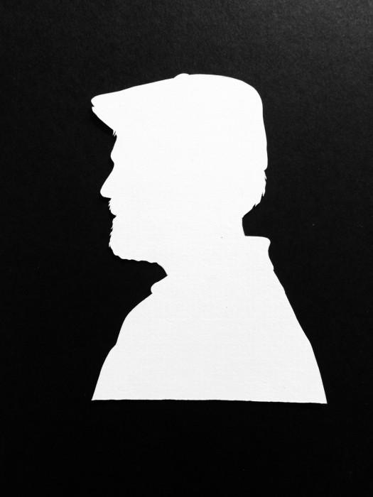 Cut Paper Silhouette - Greg