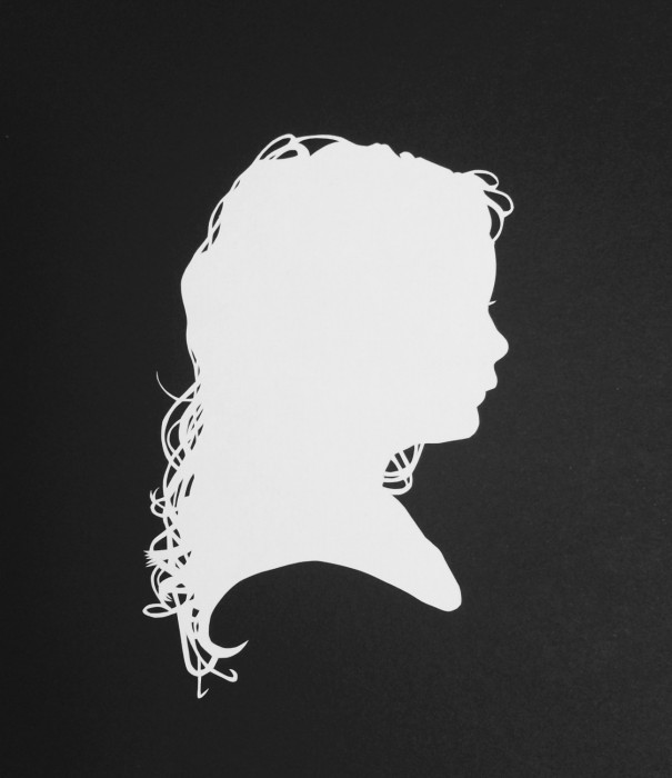 Cut Paper Silhouette - Lucy